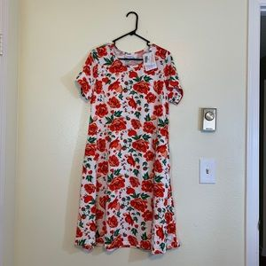 Lularoe Floral Jesse Dress - L